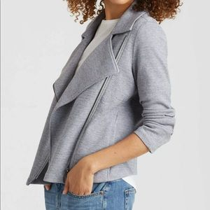 Eileen Fisher | Herringbone Knit Moto Jacket